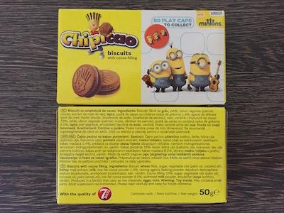 Chipicao, croasante si biscuiti Minions