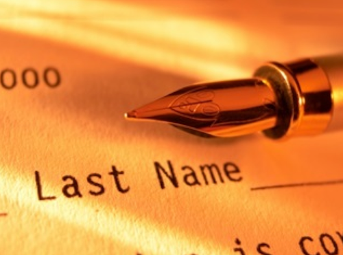 Last name vs. First name