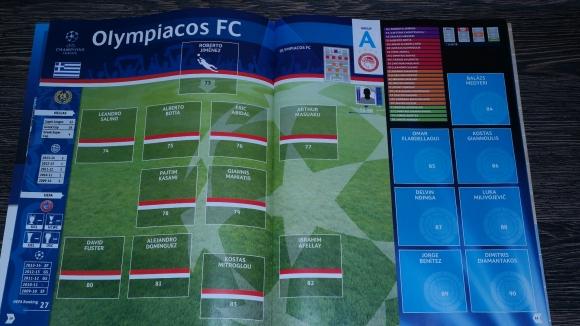 Album Panini UCL 2014 - 2015, Echipa Olympiacos FC