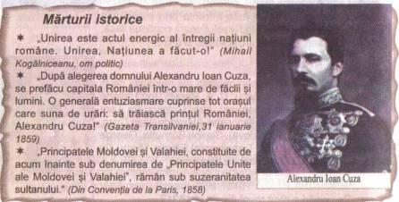 Alexandru Ioan Cuza, Marturii Istorice