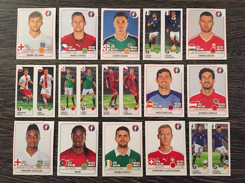 Panini Euro France 2016 - Serie de pliculete cu multe jumatati
