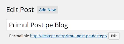 Primul post pe blogul meu destept