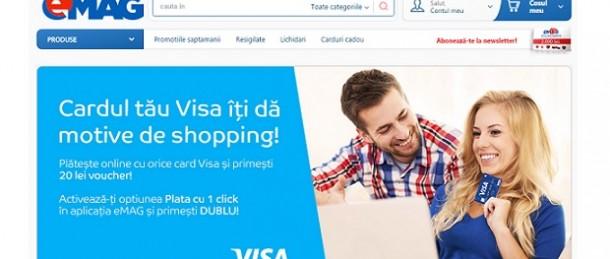 Campanie plata cu 1 click - Emag si Visa